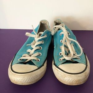 Converse size 6 pretty aqua athletic shoe